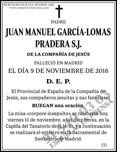 Juan Manuel García-Lomas Pradera S.J.